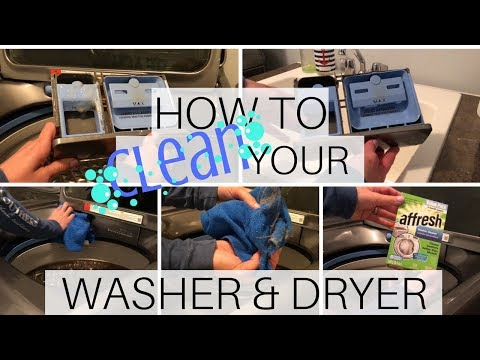 HOW TO CLEAN YOUR WASHER and DRYER | Cleaning Motivation | Affresh