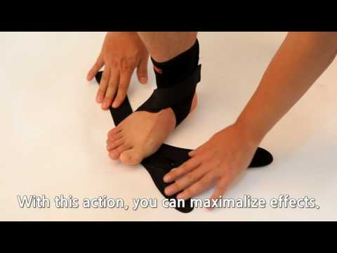 AIDER dropfoot brace Type1 - How to wear correctly