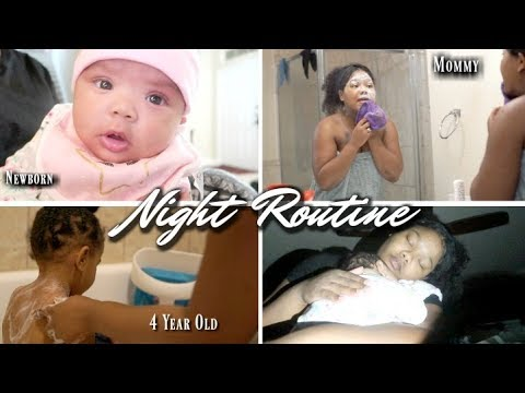 Newborn Night Time Routine (+A 4 Year Old) | My Baby Sleeps 9-12 Hours At Night | Mommy Edition