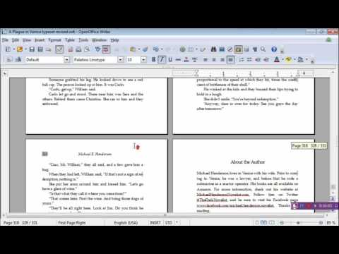 Typesetting using OpenOffice: Styles
