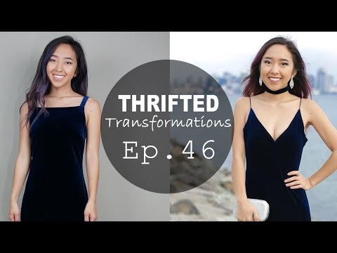 How-to Sew Velvet Dress | Thrifted Transformations Ep. 46
