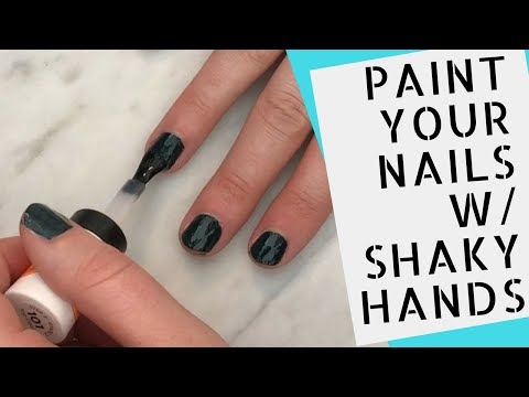 Painting My Nails w/ Shaky Hands