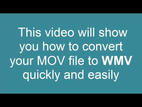 How to convert MOV to WMV