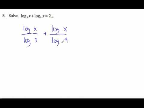 IB HL Math - Logarithm Change of Base