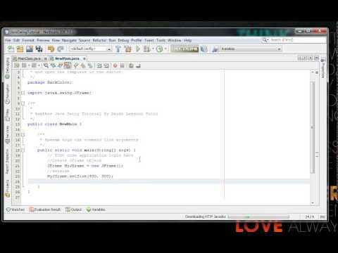 How to Change or Setting Jframe Backgroud Color in java swing programing for beginners
