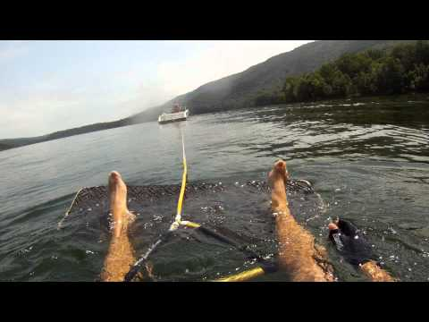 How to get up on a Wakeskate board