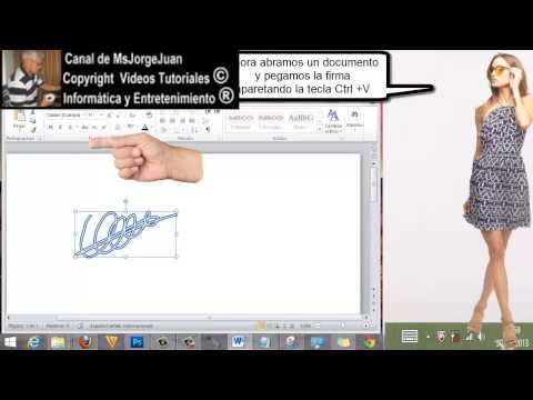 How to Make Electronic Signatures on Microsoft Word 2007 2010?