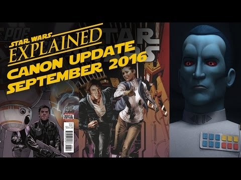 September 2016 Star Wars Canon Update - Rebels Season 3, Star Wars Comics, and More!