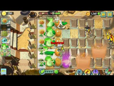 Plants vs Zombies 2 Ancient Egypt day 26