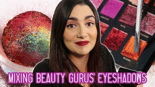 Mixing Every Beauty Guru's Eyeshadow Palette Together
