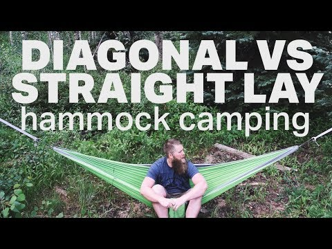 Diagonal Vs Straight Lay - Mummy Pod Hammock Camping