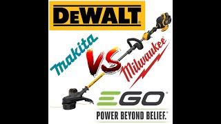 Best String Trimmer   DeWalt vs Milwaukee vs Makita vs EGO   Head 2 Head   Gas Replacement   Review