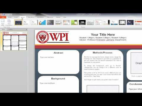 01. Sizing a PowerPoint Presentation for a Research Poster