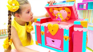 Diana and her friends are playing with Diana's toys!