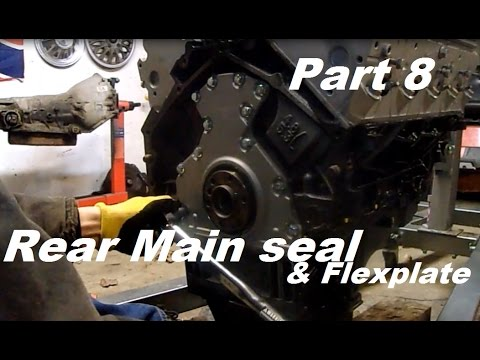 72 Chevy LS swap part 8 - Rear main seal and flexplate install