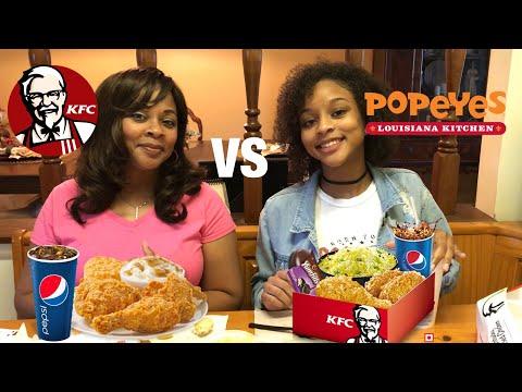 Popeyes VS KFC Fried Chicken Mukbang ~ Jay's Freshman Year of College Review!