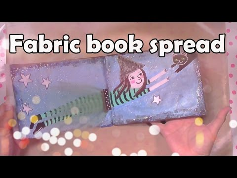 Fabric book tutorial-  Acrylic painting for beginners step by step | Mixed media art tutorial 🎨