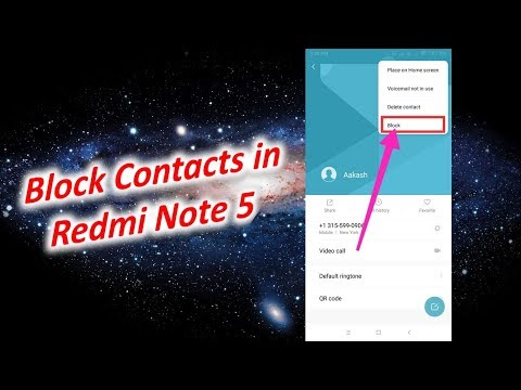 How to Block Contacts in Redmi Note 5