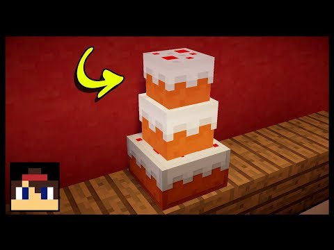 ✔ Minecraft: How To Make A Working Birthday Cake | No Mods Or Addons!