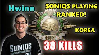 SONIQS PLAYING RANKED! - Hwinn, TGLTN, Shrimzy & M1ME - 38 KILLS - KOREA SERVER - PUBG