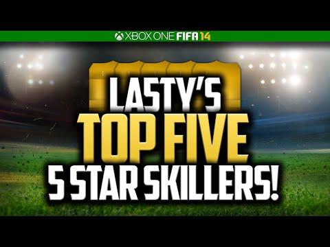LA5TY'S TOP 5 5 STAR SKILLERS! FIFA 14 ULTIMATE TEAM!