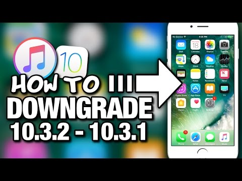 How To Downgrade iOS 10.3.2 To 10.3.1 With iTunes - iPhone - iPad - iPod Touch