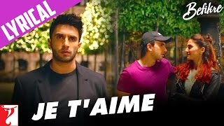 Befikre | Song with Lyrics | Ranveer Singh | Vaani Kapoor