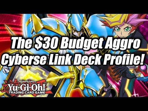 Yu-Gi-Oh! The $30 Budget Aggro Cyberse Link Deck Profile!