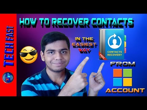 Recover and transfer all contacts | From microsoft account on windows phone [HINDI]