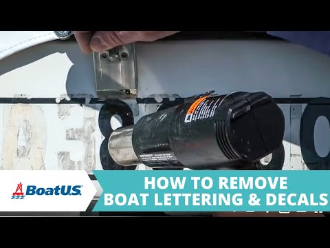 How To Remove Boat Lettering   BoatUS