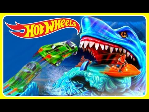 OMG SHARK ATTACK!  HOT WHEELS SHARKBAIT TOY!  FUN VIDEO FOR KIDS!