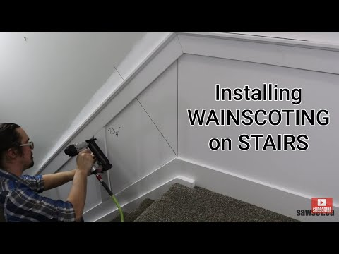 Install Wainscoting on Stairs using the Sawset Protractor Angle Finder