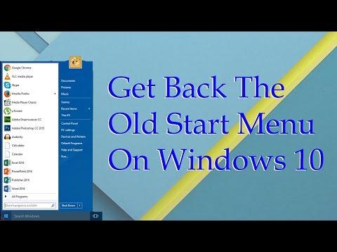 Get Back The Old Start Menu In Windows 10 [4K]