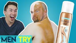 Men Try Fake Tan - Self Tanning Makeup Spray