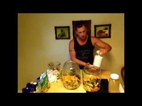 Homemade fruit juice probiotics