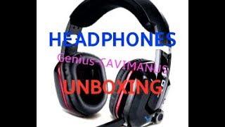 Genius-GX gaming-CAVIMANUS-7.1  Unboxing (gaming headphones
