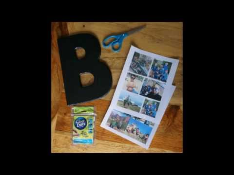 DIY Photo Collage Letter