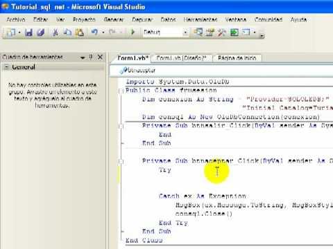 Tutorial SQL Server 2005 y Visual .Net Parte 2 (2/5)
