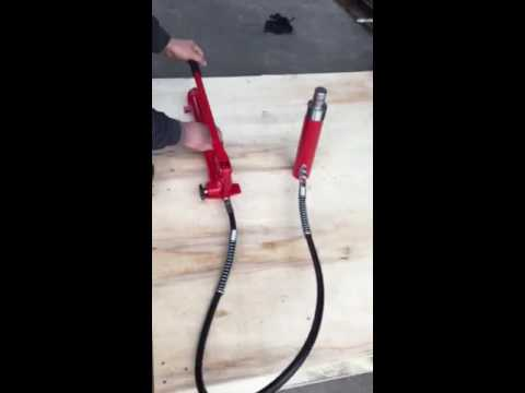10 Ton Hydraulic Jack,  how to make the air out video 3