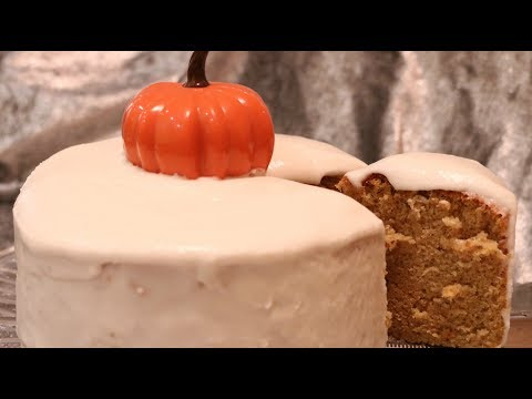 Pumpkin Japanese Cotton Cake with Japanese Frosting