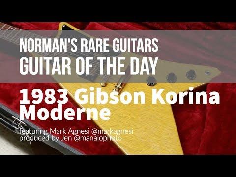 Guitar of the Day: 1983 Gibson Korina Moderne   Norman's Rare Guitars