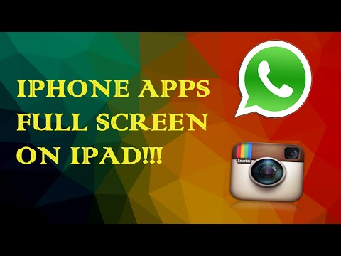 Make iPhone apps full screen on iPad on ios 7/8/9.0.2