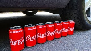 Crushing Crunchy & Soft Things by Car! - Coca Cola, Pop Corn, Water Baloon, Duck Toy, Slow Motion