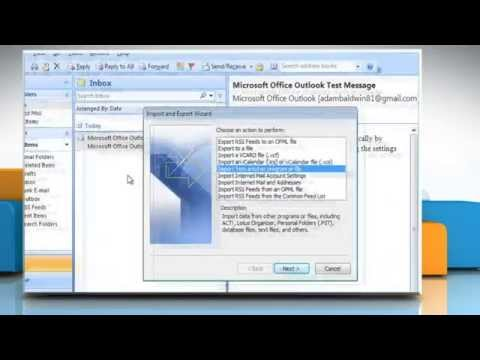 How to export PST file in Microsoft® Outlook 2007 on Windows® Vista