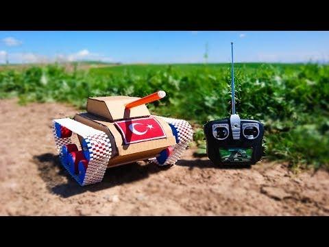 Kartondan Tank Nasıl Yapılır - How to Make a RC Tank From Cardboard