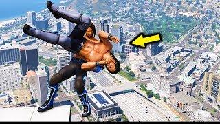 GTA 5 WRESTLING LIKE IN WWE #24 (RKO, Powerbomb, Spear, and more!)