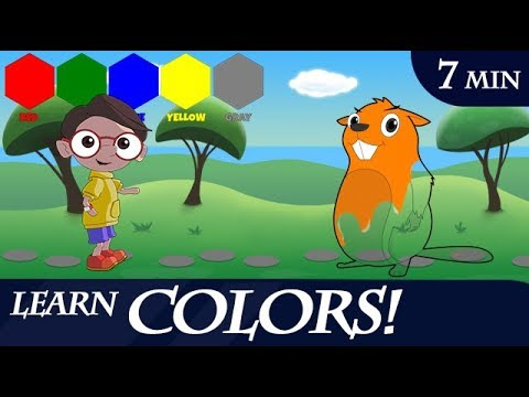 Color Video for Kids (Red, Green, Blue, Yellow, Gray, Black, White, Brown, Orange, Pink)