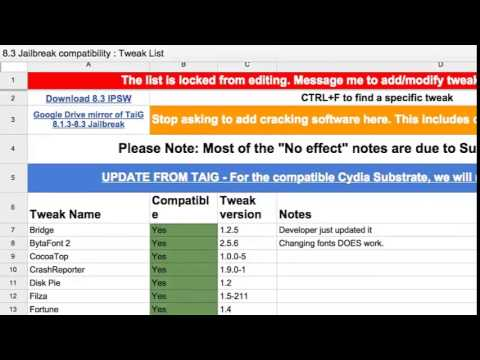 Complete List Of iOS 8.3 Jailbreak Compatible Cydia Tweaks: Which Jailbreak Apps Work With TaiG ?