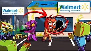 Minecraft   BREAKING INTO WALMART - Walmart vs Zombie Apocalypse!