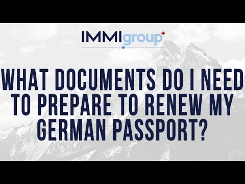 What documents do I need to prepare to renew my German passport?